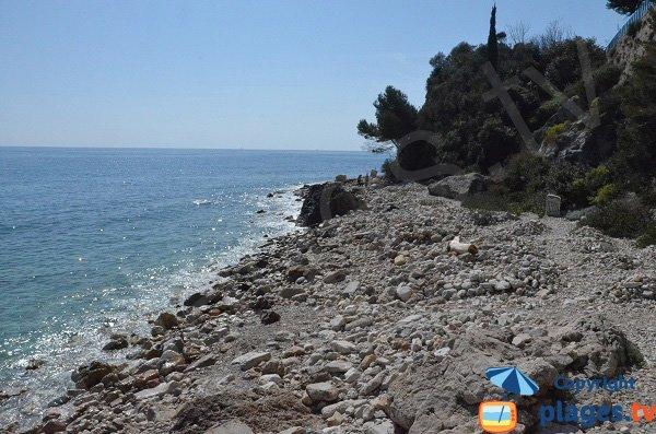 Crique entre Monaco et Roquebrune Cap Martin