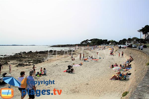Rochers sur la plage de Ty Bihan à Carnac