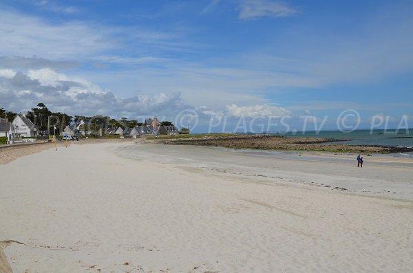 Photo de la plage de Ty Bihan à Carnac