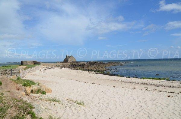 Ty Guard beach in La Trinité sur Mer in France
