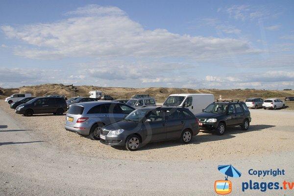 Parking de la plage de Ty Hoche à plouharnel