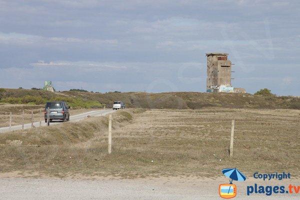 Route d'accès à la plage de Ty Hoche à plouharnel