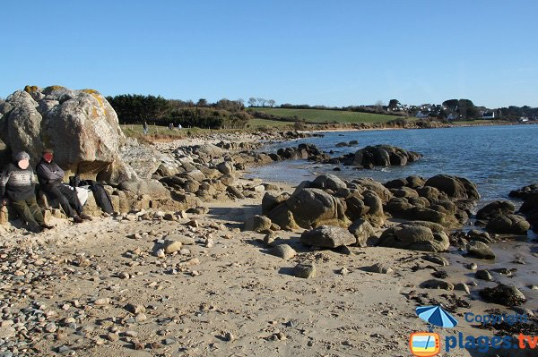 Rochers sur la plage de Ty Louzou - Bretagne
