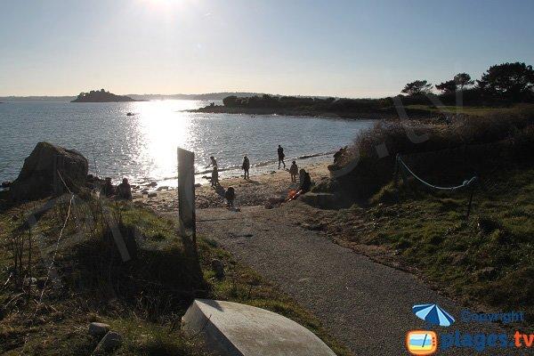 Environnement de la plage de Ty Louzou - Bretagne