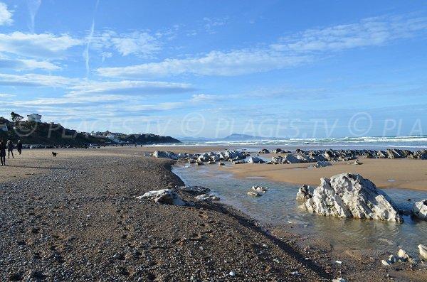 Plage de l'Uhabia à Bidart à proximité de la plage du Centre