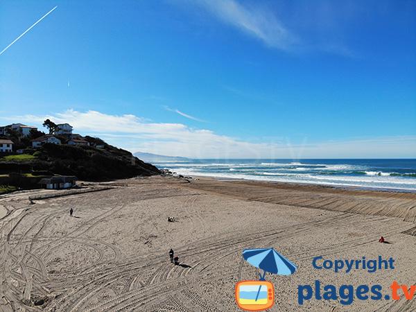 Vue en direction de l'Espagne depuis la plage Uhabia - Bidart