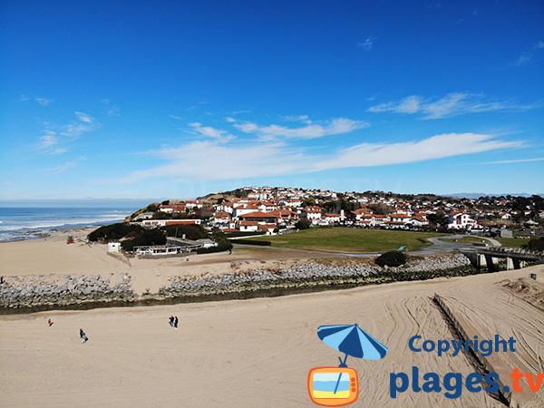 Bidart depuis la plage Uhabia - Côte Basque