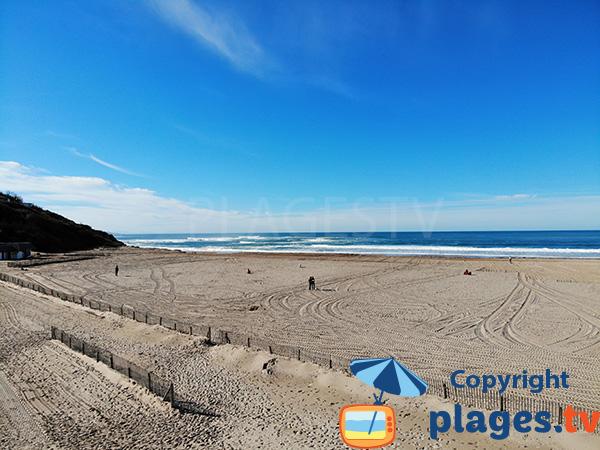 Sud de la plage d'Uhabia - Bidart