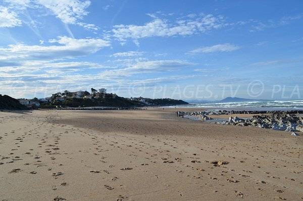 Vue de cette plage de Bidart en direction de Guéthary