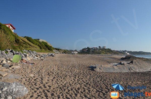 Zone calme sur la plage Uhabia à Bidart