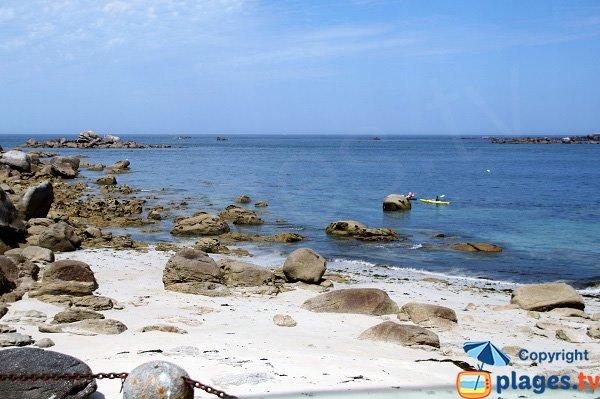 Rochers sur la plage du Vag Du - Kerlouan