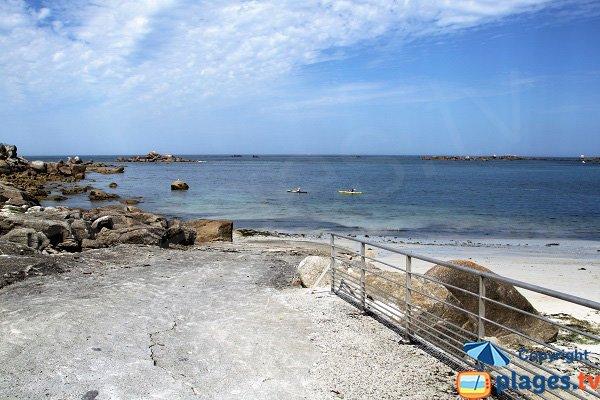 Cale sur la plage de Vag Du