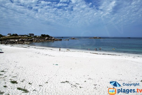 Belle plage à Kerlouan - Vag Du