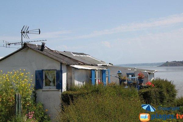 Cabanes en bord de mer à Saint Brieuc