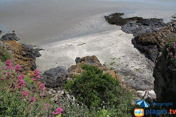 Crique à côté de la plage du Valais de St Brieuc