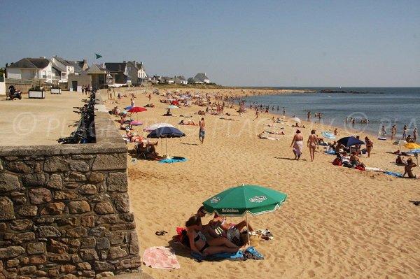 Valentin beach in Batz sur Mer in France