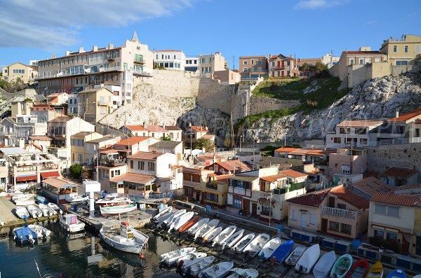 Harbor in Vallon des Auffes in Marseille