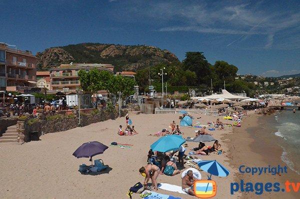 Spiaggia di sabbia di Theoule sur Mer