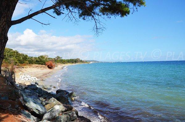 Spiaggia di Vanga di l'Oru in direzione di Moriani-Plage