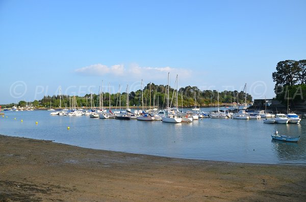 Conleau beach in Vannes in France