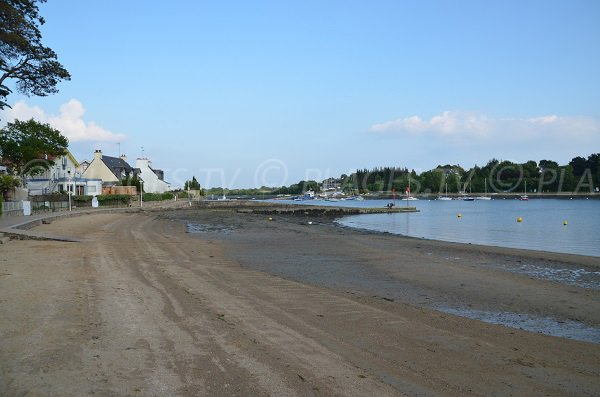 Vannes beach at low tide