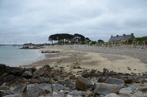 Plage de Le Varlen à Run ar Foën en Bretagne