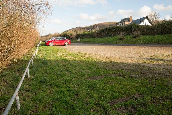 Parking of the Vasouy beach - honfleur