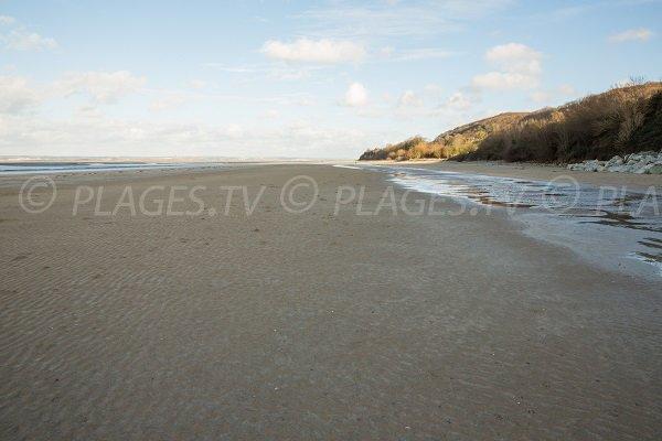 Photo of the Vasouy beach in Honfleur in France