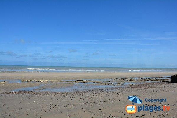 Plage de sable entre Ste Marguerite sur Mer et Varengeville
