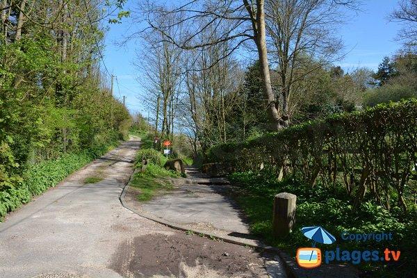 Vasterival - chemin d'accès