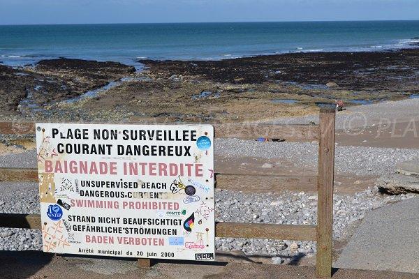 Baignade interdite sur la plage de Vaucottes