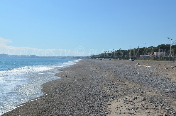 Large beach in Villeneuve Loubet - France