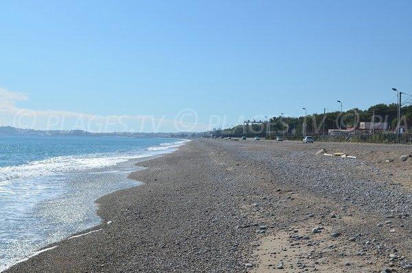 Large beach in Villeneuve Loubet - France