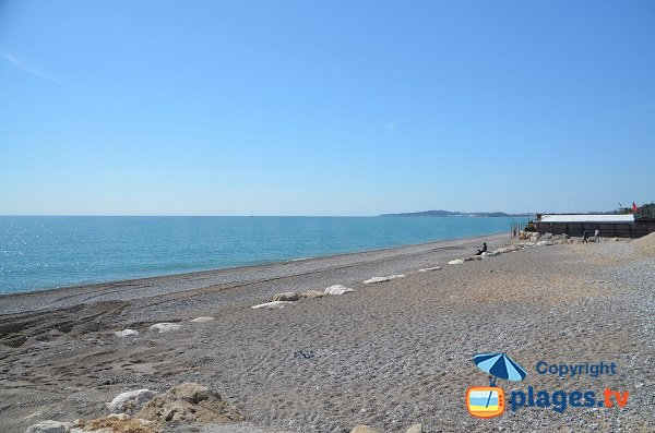 Photo de la plage de Vaugrenier - Villeneuve-Loubet