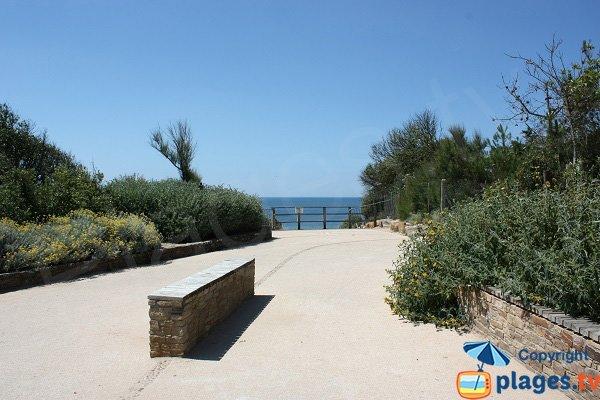 Accès à la plage de Talmont