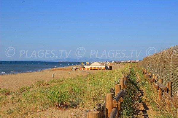 Spiagge private a Vendres-Plage