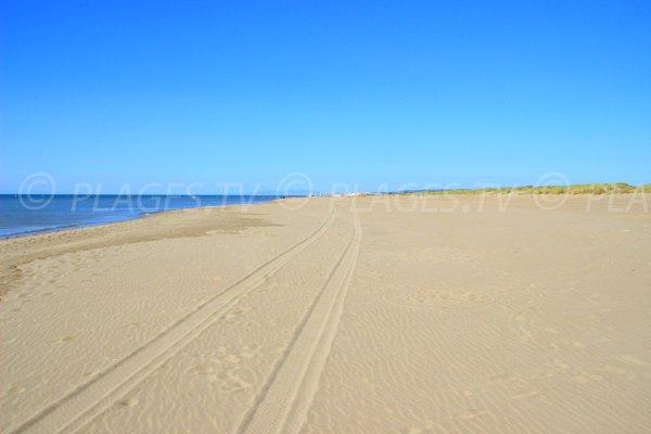 Plage Nord de Vendres en direction de l'Aude