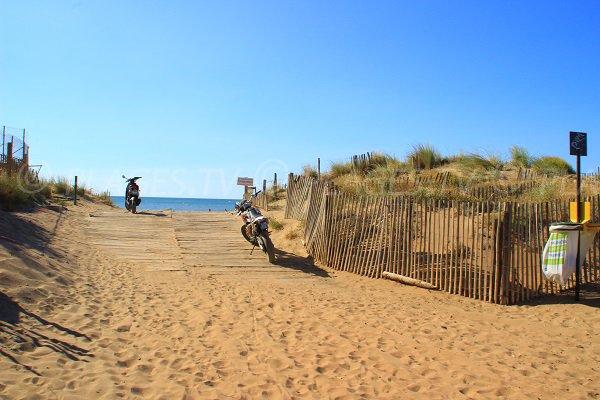 L'accesso della spiaggia Nord di Vendres