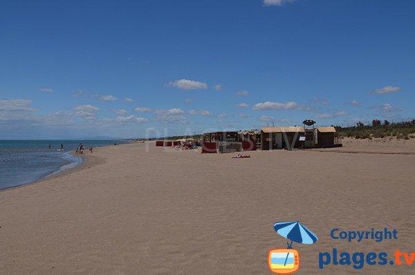 Photo de la plage nord de Vendres à la limite de Valras - 34