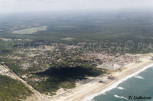 Photo de la plage de Vensac en vue aérienne