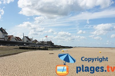 Beach in Ver sur Mer in France