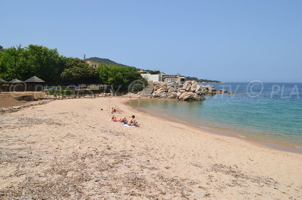 Private beach of Verghia in south of Corsica
