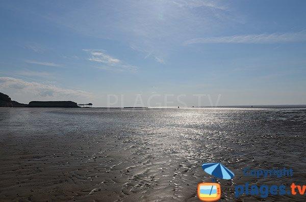 Baignade à marée basse sur la plage des Vergnes à Meschers