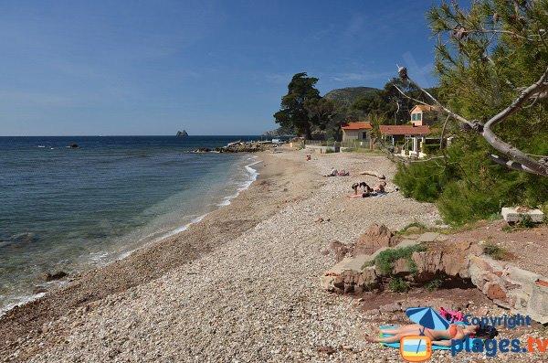 Beautiful beach in La Seyne sur Mer