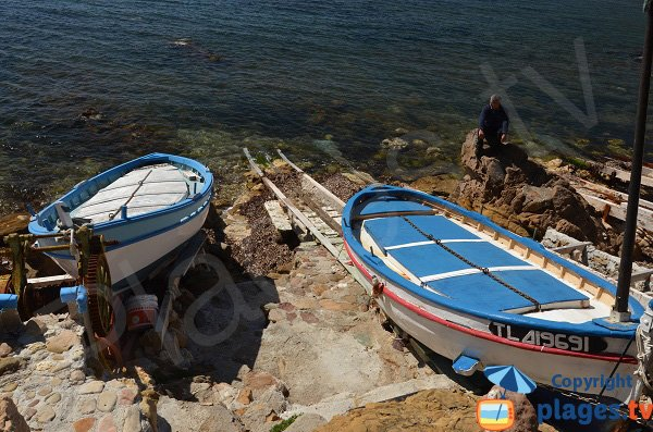 Typical fishing boat in La Seyne on the Verne beach