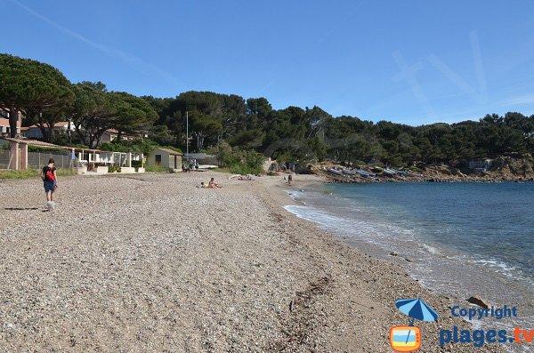 Verne beach in La Seyne sur Mer in France