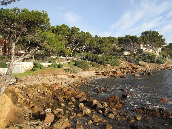 Vernette beach in La Seyne sur Mer in France