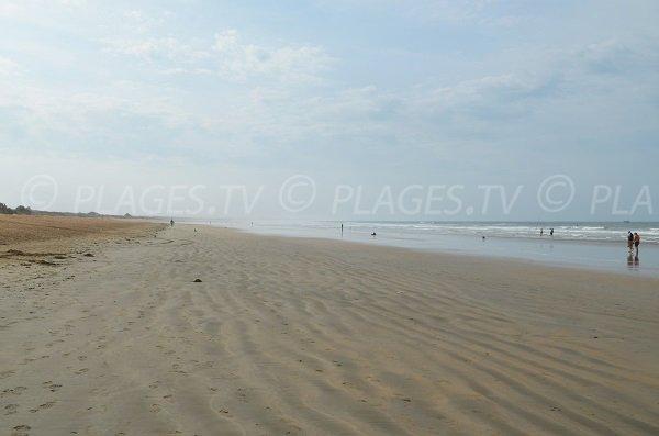 Grande plage à Dolus d'Oléron