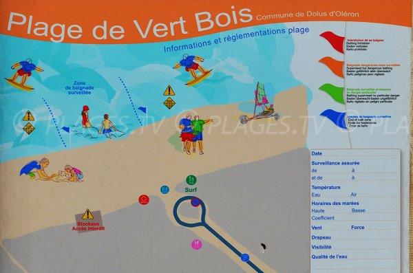 Supervised swimming in Vert Bois beach - Oleron