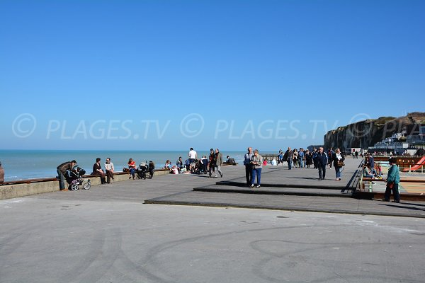 Walk along the beach Veules les Roses